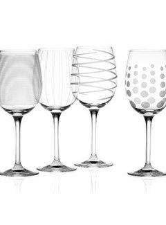 Mikasa Serviezen Copy of Mikasa Witte wijn glazen Swirl blue set/4