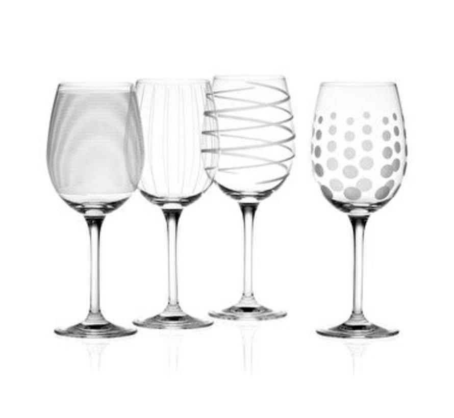 Copy of Mikasa Witte wijn glazen Swirl blue set/4