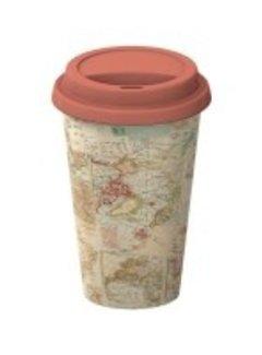 KitchenCraft; Engelse Kwaliteitsprodukten Travelmug, - ATLAS -reismok/coffee to go