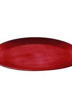 Rechthoekige schaal 44 x 12,5cm. rood kunststof