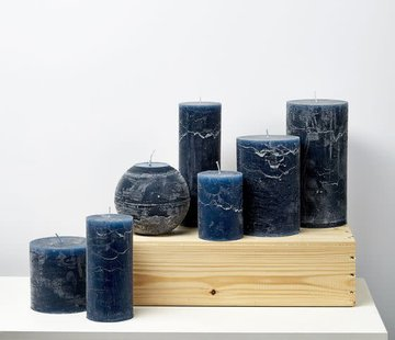 Branded By; Hoge kwaliteitskaarsen Kaars 10x10 1 1lont Dark-blue