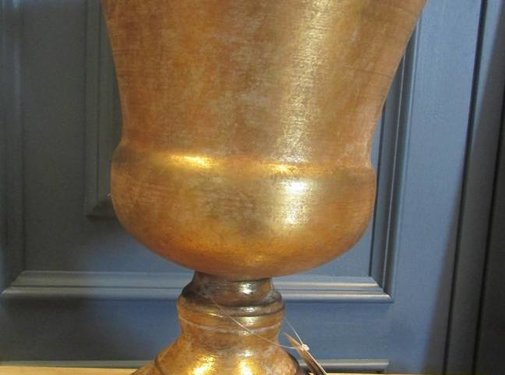 Zisensa, private collection Bokaal goudkleurig/antiek