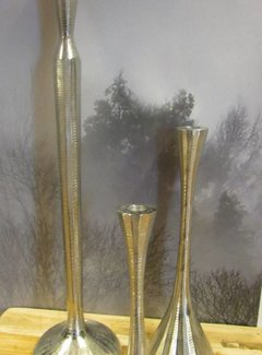 Zisensa, private collection Unieke woonaccessoires Kandelaar zilverkleurig
