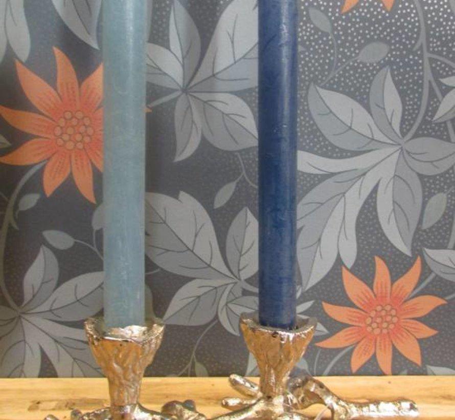 Copy of Kaarsenhouder takvorm zilver, 2 kaarsen