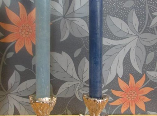 Zisensa, private collection Unieke woonaccessoires Kaarsenhouder takvorm zilver, 2 kaarsen