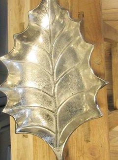 Zisensa, private collection Unieke woonaccessoires Alum. Schaal in bladvorm