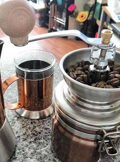 La Cafetiere; Cafetieres & Espressomakers Originele koperen koffiemolen