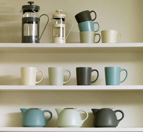 La Cafetiere; Cafetieres & Espressomakers Barcelona mok aardewerk , blauw,rood,wit,zwart,groen,mint,creme,grijs