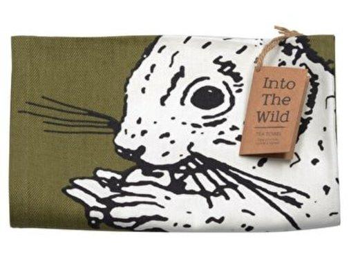Into The Wild; Servies en keukentextiel dierenserie Into The Wild Eekhoorn Theedoek