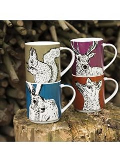 Into The Wild; Servies en keukentextiel dierenserie Into The Wild Animal Mugs stackable in gift packaging