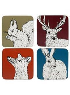 Into The Wild; Servies en keukentextiel dierenserie Untersetzer in die Wildnis sortierte Farben
