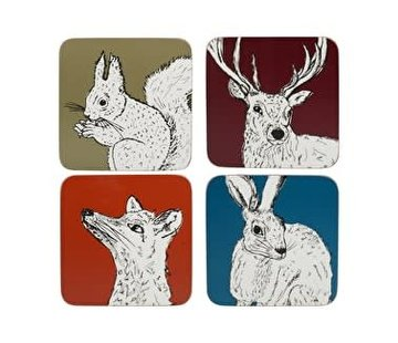 Into The Wild; Servies en keukentextiel dierenserie Coasters Into The Wild assorted colors