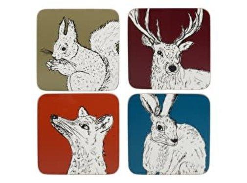 Into The Wild; Servies en keukentextiel dierenserie Onderzetters Into The Wild assorti kleuren
