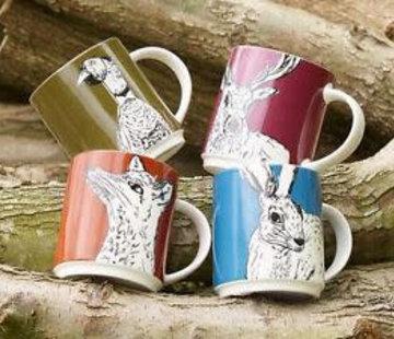 Into The Wild; Servies en keukentextiel dierenserie Mug Into the Wild, deer, polar bear, fox, squirrel, hare