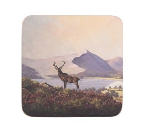 KitchenCraft; Engelse Kwaliteitsprodukten Onderzetter Hert in Schotslandschap set van 6 stuks