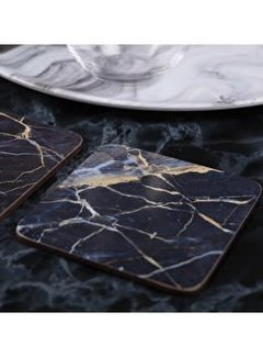 KitchenCraft; Engelse Kwaliteitsprodukten Coaster Blue Marble set of 6 pieces
