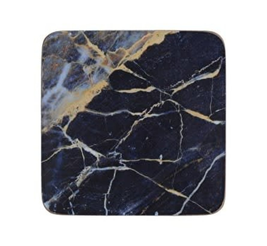 Coaster Blue Marble set of 6 pieces