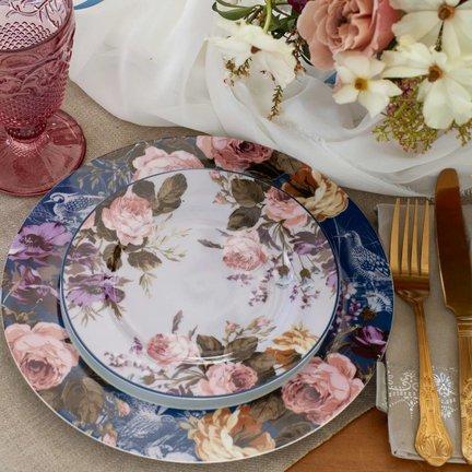 Katie Alice Wild Apricity; Compleet Engels Jachtservies met bloemen