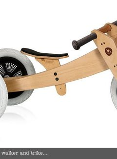 Wishbone; houten loopfietsen en schommelpaarden Wishbone 3-in-1 bike original