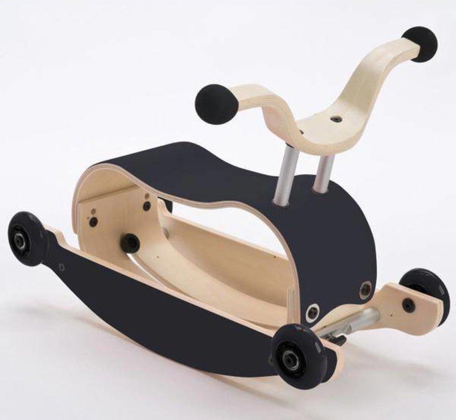 Wishbone Mini FLIP Top ZWART + eigen samenstelling basis + wielen