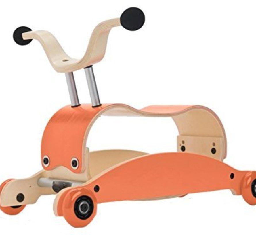 Wishbone Mini FLIP Top ORANJE + eigen samenstelling basis + wielen
