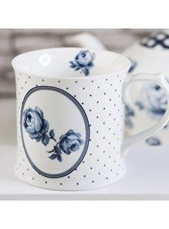 Katie Alice Vintage Indigo; Compleet Engels Servies Blauw Wit Copy of Katie Alice Vintage Indigo gebloemde grote mok