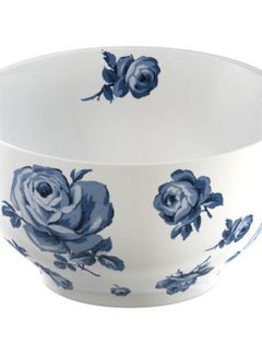 Katie Alice Vintage Indigo witte kom met bloemen