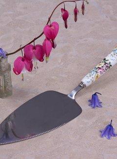 Katie Alice English Garden; Compleet Engels Porseleinen servies met bloemen Katie Alice English Garden taartschep