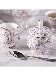 Katie Alice Ditsy Floral suikerpotje & melkkannetje wit porselein & bloemetjes