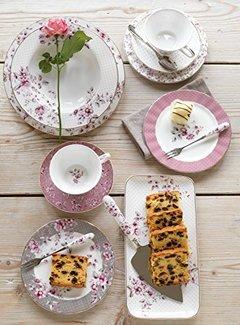 Katie Alice Ditsy Floral; Engels Servies met bloemen porseleinen bordje wit gebloemd