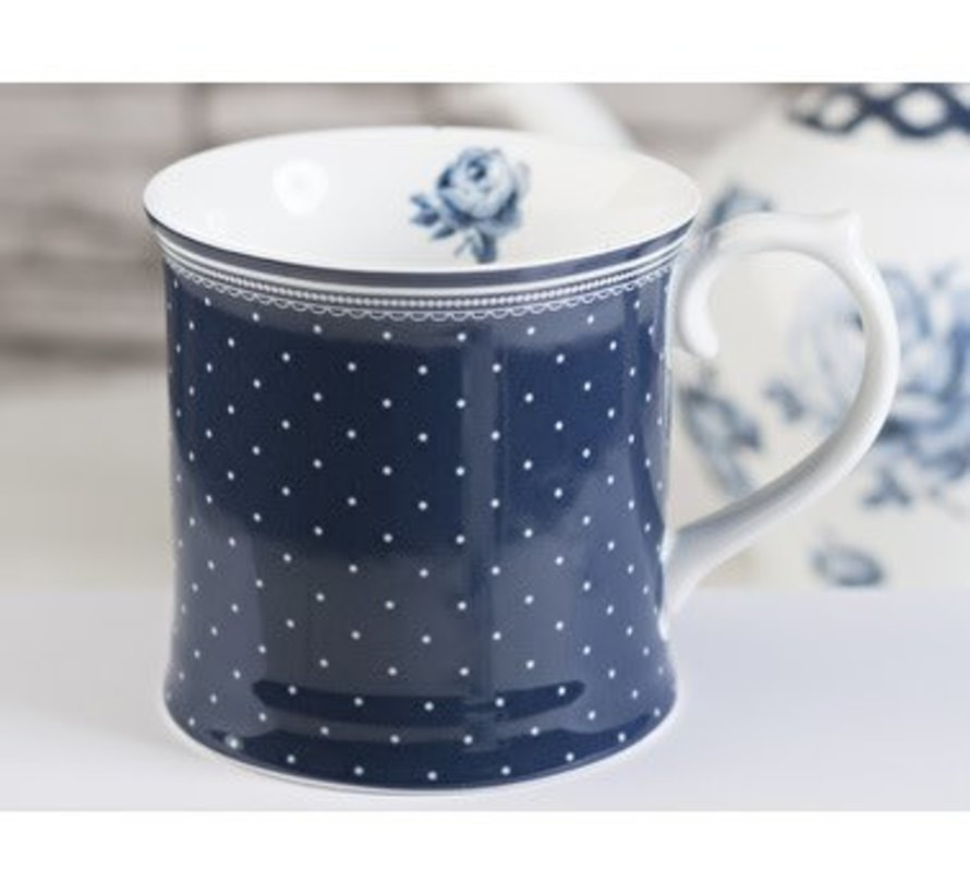 Katie Alice Vintage Indigo Spot Tankard Mug, Swing Tag