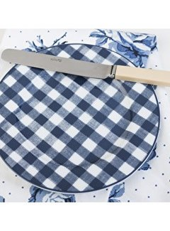 Katie Alice Vintage Indigo; Compleet Engels Servies Blauw Wit Blauw wit geblokt bordje, ontbijtbord