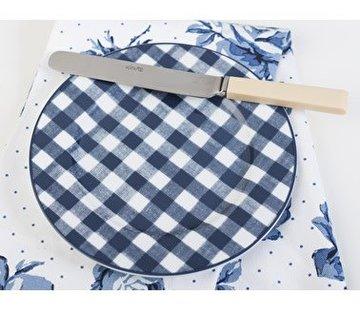 Katie Alice Vintage Indigo; Compleet Engels Servies Blauw Wit Katie Alice Vintage Indigo Gingham Side Plate, Labelled