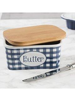 Katie Alice Vintage Indigo; Compleet Engels Servies Blauw Wit Katie Alice Vintage Indigo Large Butter Dish, Card Sleeve