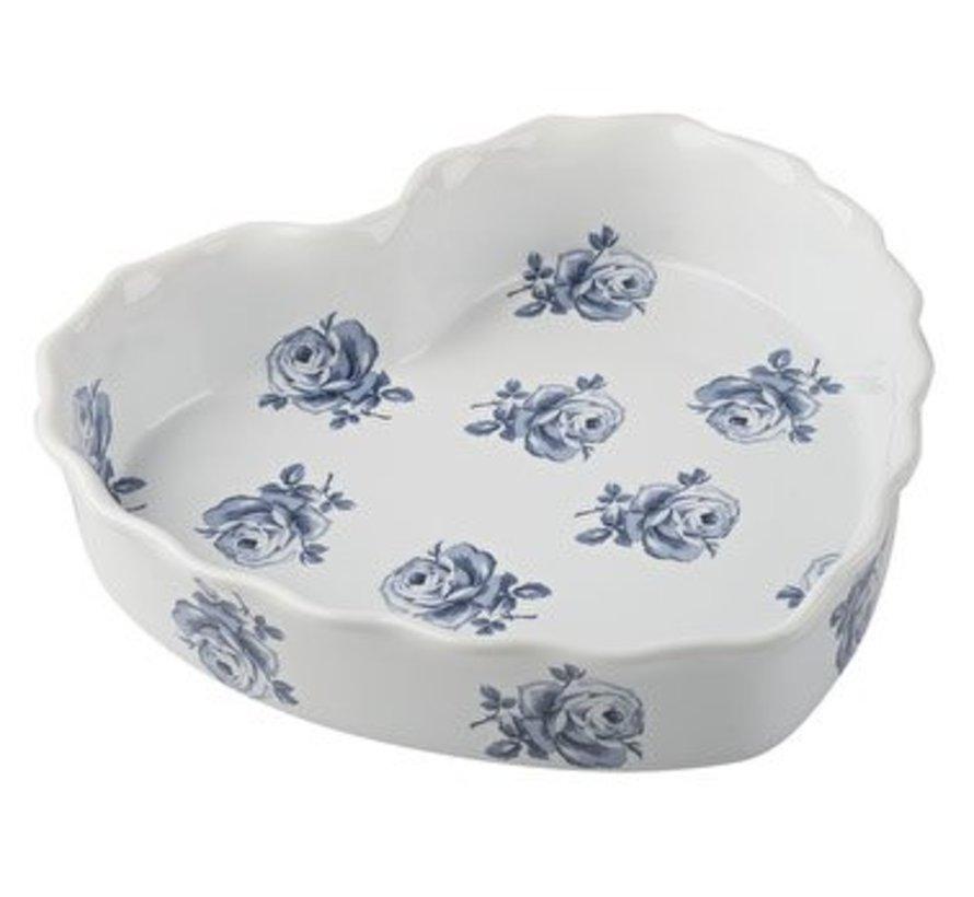 Katie Alice Vintage Indigo Heart Dish, Labelled