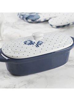 Katie Alice Vintage Indigo; Compleet Engels Servies Blauw Wit Katie Alice Vintage Indigo Mini Oval Casserole Dish, Labelled