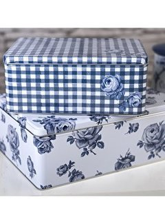 Katie Alice Vintage Indigo; Compleet Engels Servies Blauw Wit Katie Alice Vintage Indigo Set Of 2 Rectangular Cake Tins, Swing Tag