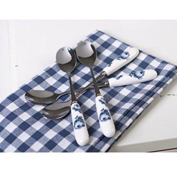 Katie Alice Vintage Indigo; Compleet Engels Servies Blauw Wit Katie Alice Vintage Indigo Set Of 4 Teaspoons, Card Box