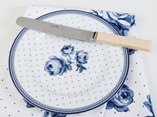Katie Alice Vintage Indigo; Compleet Engels Servies Blauw Wit Katie Alice Vintage Indigo White Floral Side Plate, Labelled