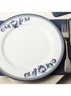 Katie Alice Vintage Indigo wit porseleinen dinerbord met bloemen