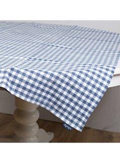 Katie Alice Vintage Indigo; Compleet Engels Servies Blauw Wit Tafelkleed blauw wit geblokt