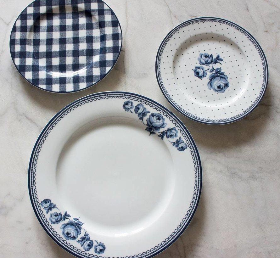 Katie Alice Vintage Indigo White Floral Side Plate, Labelled