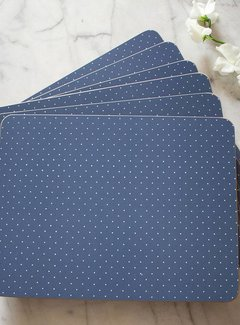Katie Alice Vintage Indigo; Compleet Engels Servies Blauw Wit Katie Alice Vintage Indigo Pack Of 4 Large Premium Placemats, Acetate Box