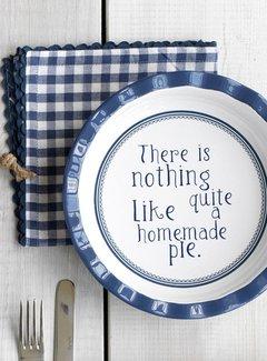 Katie Alice Vintage Indigo; Compleet Engels Servies Blauw Wit Katie Alice Vintage Indigo Round Pie Dish, Labelled