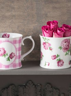 Katie Alice Vintage Indigo Set van 2 roze mokken