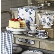 Katie Alice Vintage Indigo; Compleet Engels Servies Blauw Wit