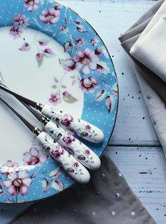 Katie Alice Ditsy Floral porseleinen bordje blauw gebloemd