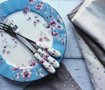 Katie Alice Ditsy Floral; Engels Servies met bloemen Copy of Katie Alice Ditsy Floral fine bone china bordje wit