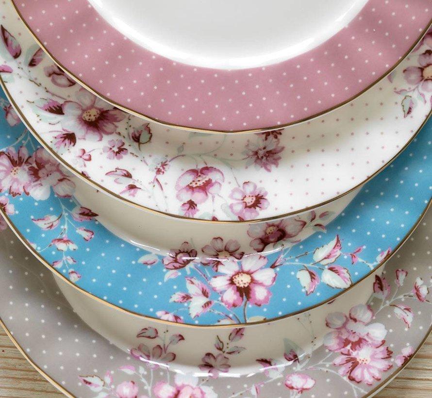 Copy of Ditsy Floral fine bone china bordje wit