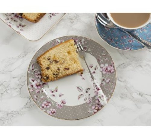 Katie Alice Ditsy Floral; Engels Servies met bloemen Copy of Ditsy Floral fine bone china bordje wit